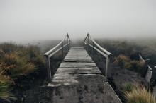 Hazy Landscape - Old Wooden Br...