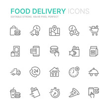 Collection Of Food Delivery Re...
