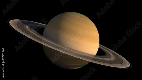 Fotografie, Obraz Detailed close-up of the planet Saturn