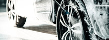 Car Wash Business. Detail Manual Car Wash Banner.