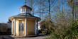 canvas print picture - Schellenhaeuschen Schlosspark Bad Mergentheim im Fruehling