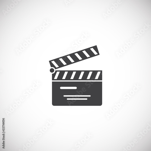 Cinema related icon on background for graphic and web design Canvas Print