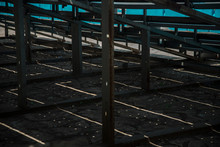 Below View Of Bleachers At Stadium