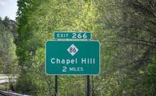 Chapel Hill, NC, Highway Sign