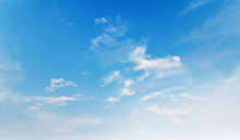 Blue Sky With White Cloud In M...