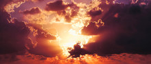 Orange And Gray Clouds Beautif...