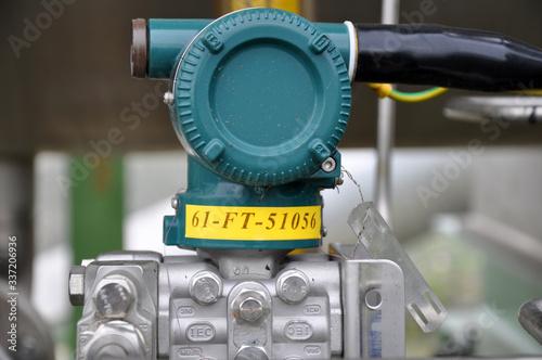 Billede på lærred The pressure transmitter installed on process equipment