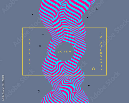 Fotomural Background with optical illusion