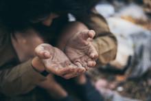 Poor People,homeless Or Beggar...