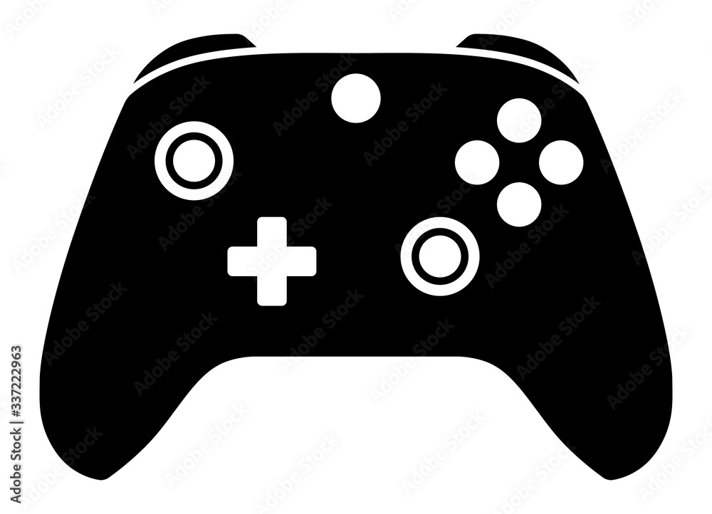 Fototapeta Advance game controller or gamepad flat vector icon for gaming apps and websites