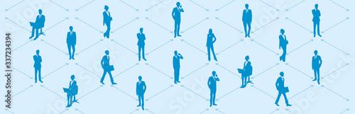 Valokuvatapetti Social distancing set of icons