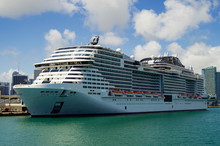 Big Modern MSC Cruises Cruises...