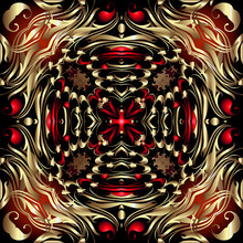 Paisley Seamless Pattern. Vect...