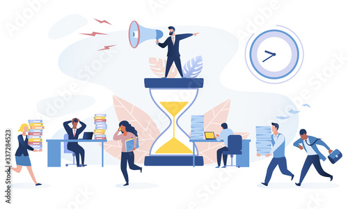 Time management concept Canvas Print