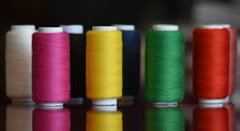 Close-up Of Colorful Spools