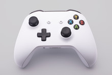 White Video Game Controller On A White Background