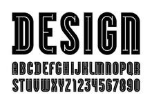 Black Font, Modern Alphabet, D...