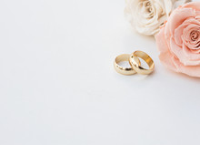 Golden Wedding Rings And Two R...