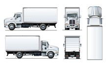 Vector Truck Template Isolated...