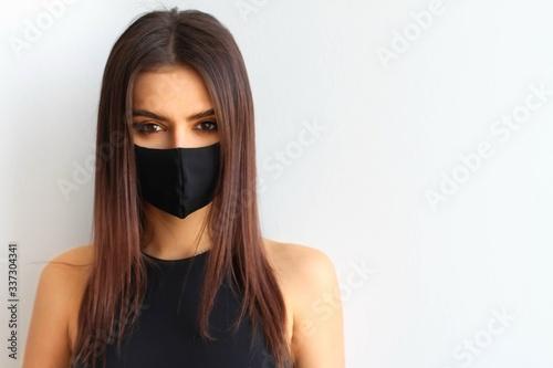 Tela Girl in a mask virus
