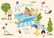 Vector Summer Fair Poster, Fly...