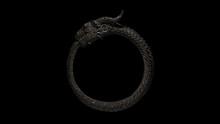 Dusty Old Iron Dragon Bracelet 3d Illustration 3d Render