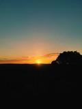 Fototapeta Na ścianę - Silhouette Landscape Against Clear Sky During Sunset