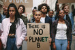 Activists doing a silent protest to save earth
