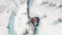 Aerial View. A Caucasian Man H...