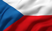Flag Of Czech Republic Blowing...