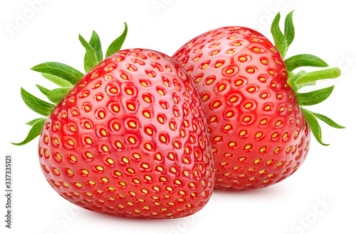 Fototapeta Red strawberry isolated on white background