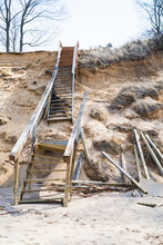 Unstable Stairs On Eroding San...