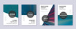 Modern brochure design template set. Red abstract