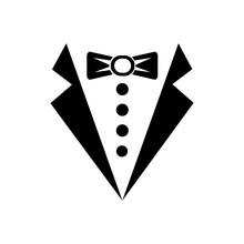 Tuxedo Or Butler Sign Icon Vec...