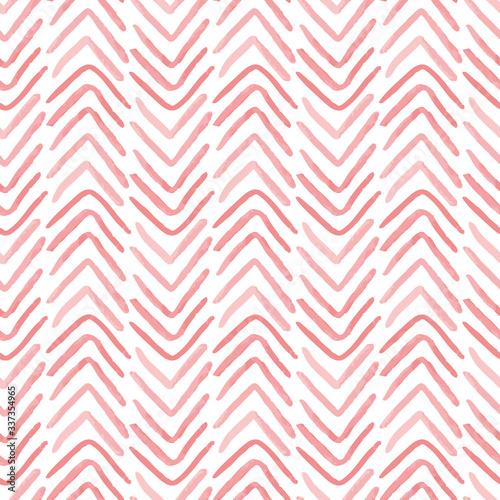 Tapeta różowa  pink-textured-herringbone-vector-seamless-pattern-abstract-hand-painted-background-monochrome