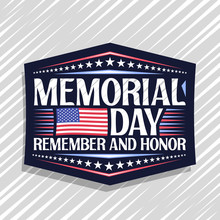 Vector Logo For Memorial Day, ...