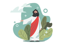 Vector Illustration About The Bible, Jesus Christ.