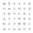 E-learning, online education vector elements