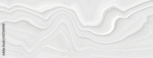 Fototapety, obrazy: White background 3 d with elements of waves in a fantastic abstract design, the texture of the lines in a modern style for wallpaper. Light gray template for wedding ceremony or business presentation.