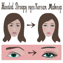 Hooded Droopy Eyes Make Up Kor...