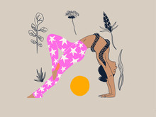 Flowers And Yoga