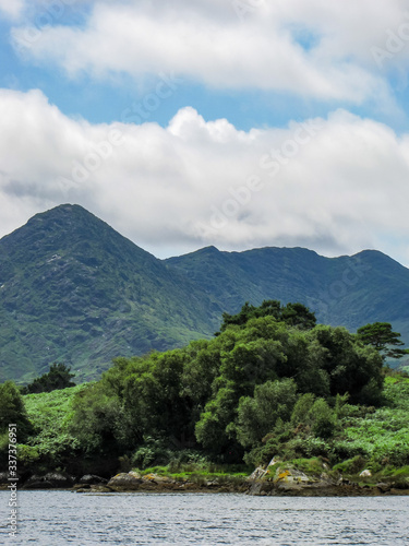 Hazy Irish Mountains with Bantry Bay in the Foreground Wallpaper Mural