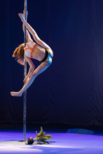 Girl Athlete Gymnast Shows An ...