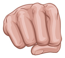 A Hand In A Fist Punching View...