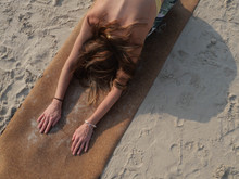 Top View Of Woman Practicing C...