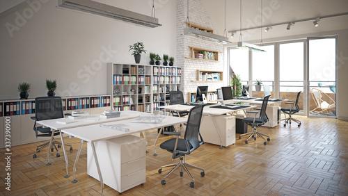 Photo contemporary loft office