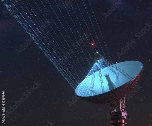 Giant Satellite Dish for Signal From Galaxy Poster Mural XXL