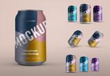 5 Aluminum Drink Can Mockups - 337398581