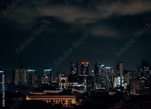Fototapety, obrazy: Skyline of Metro Manila by Night