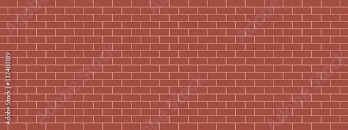 Foto red tiles background brick wall vector panorama illustration pattern seamless